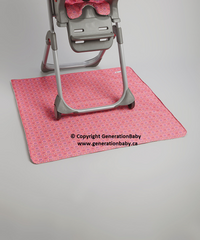 Generation Baby Messy Mat - Made in Canada Reusable Waterproof Two Layers Play/Mealtime Mat