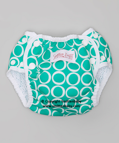 Smitten Baby Swim Diaper - Reusable and Adjustable Infant, Baby Swim Diaper, Cloth Swim Diaper