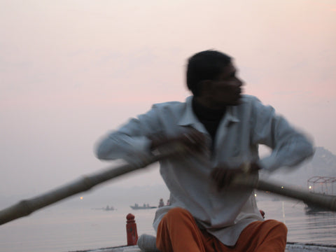 """Rowing the Ganges"" Matted 8x10"