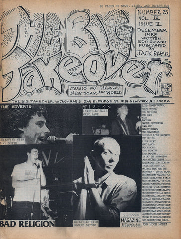 Big Takeover: Issue No. 23-25, 1987-1988