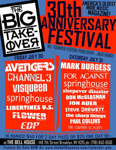 Big Takeover 30th Anniversary Poster
