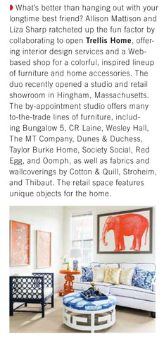 Trellis Home New and Noteworthy New England Home Jan/Feb 2016