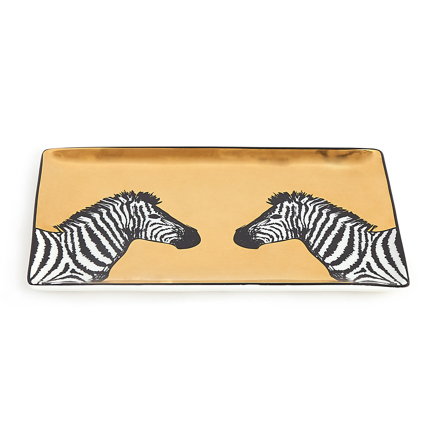 Zebra Animalia Tray - Trellis Home