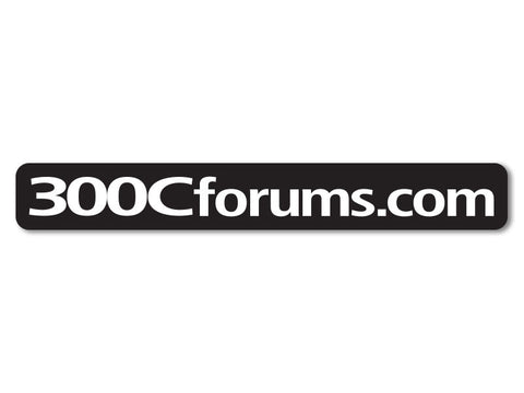 300cForums.com Decals (set of 2)