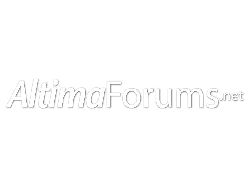 AltimaForums.net White Cut Vinyl Decals (set of 2)