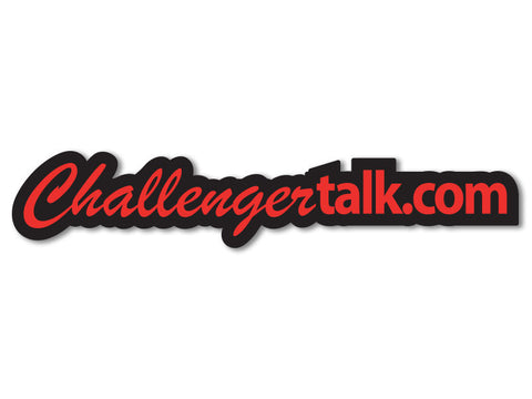 "ChallengerTalk.com Decal 8"" (set of 2)"
