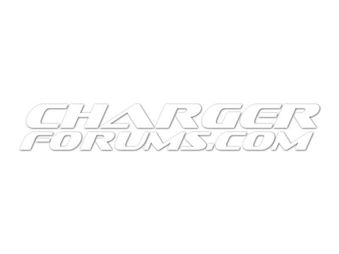 "ChargerForums.com 8"" Cut Vinyl Decals (set of 2)"