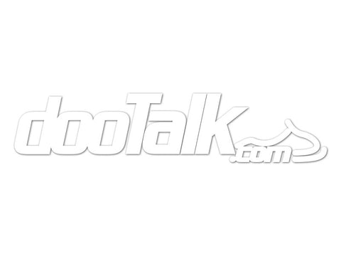 DooTalk.com Cut Vinyl Decals (set of 2)