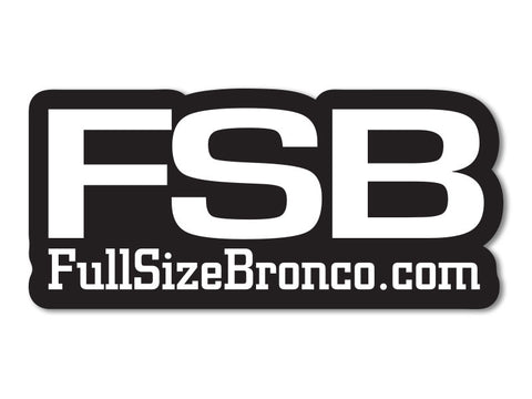 FullSizeBronco.com Sticker (set of 2)