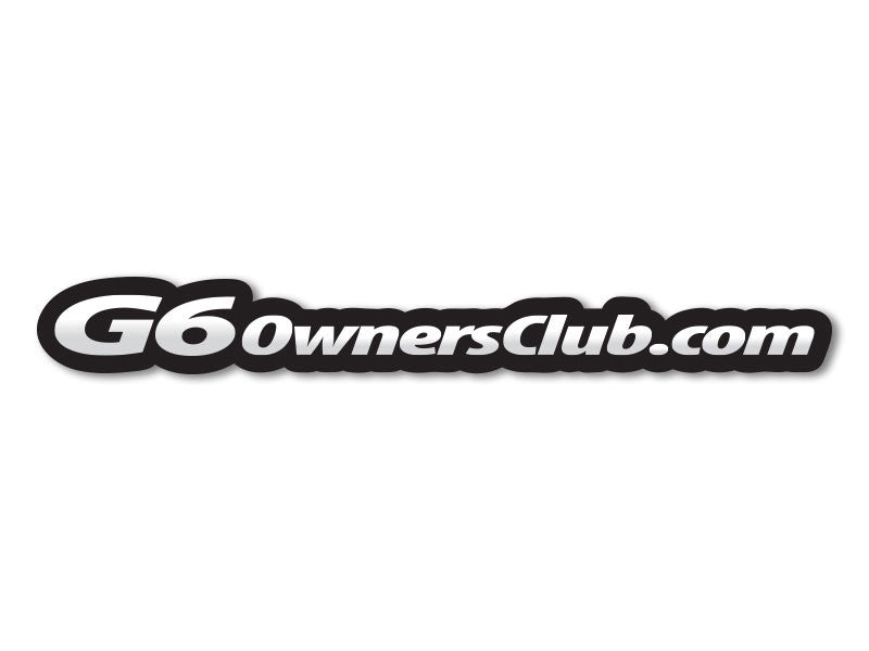 G6OwnersClub.com Decals (set of 2)