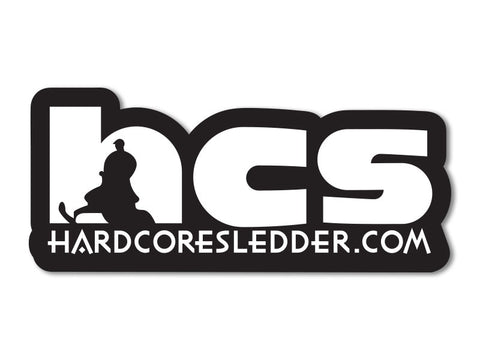 "HardcoreSledder.com 7"" Decals (set of 2)"