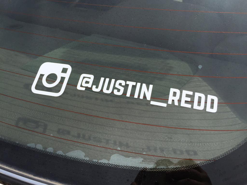 Personalized Instagram Decal (set of 2)