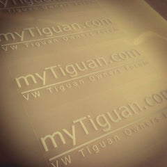 MyTiguan.com Decals, White on Clear (set of 2)