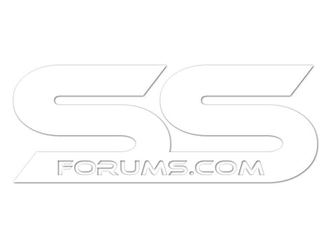 SSForums.com White Cut Vinyl Decals (set of 2)