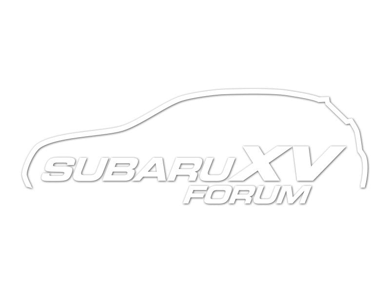 SubaruXVForum.com Die-Cut Silhouette Decals (set of 2)