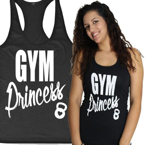 GYM Princess Graphic Tank Top