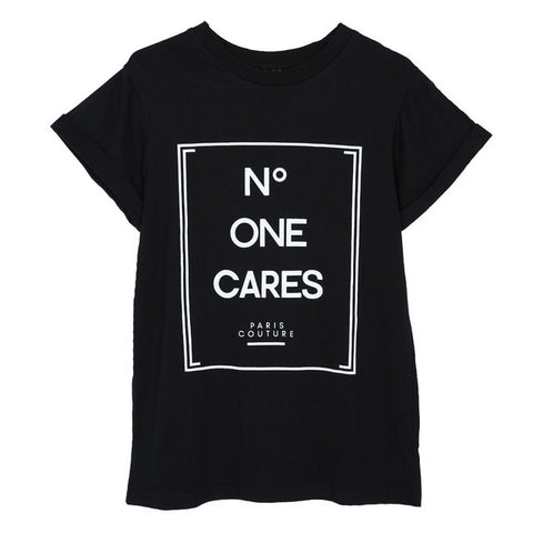 No One Cares Printed Top