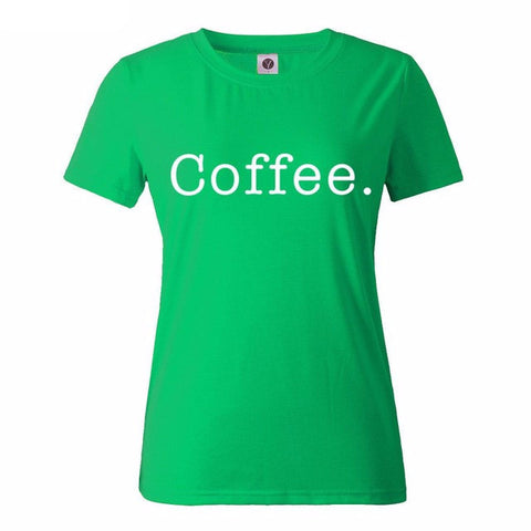 Coffee. Printed Girls Tops