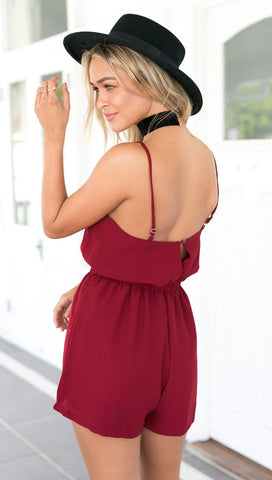 Cross Front Sleeveless Backless Rompers