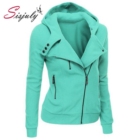 Solid Color Long Sleeve Hooded Jacket