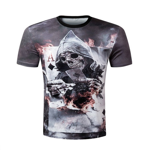 3D Halloween Graphics T-Shirt