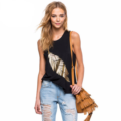 Beautiful Feather Graphics Tank Top
