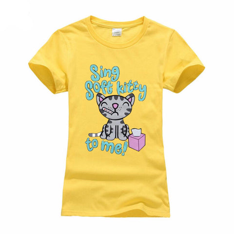 Soft Kitty Lover Girls Tees