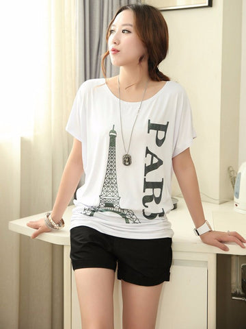 Paris Graphics Long T-Shirt