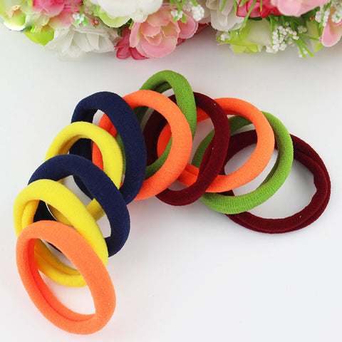 Candy Fluorescence Colored Rubber Hair Bands