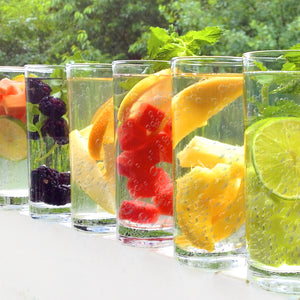 water kefir and fruit
