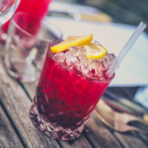 Alcohol red drink