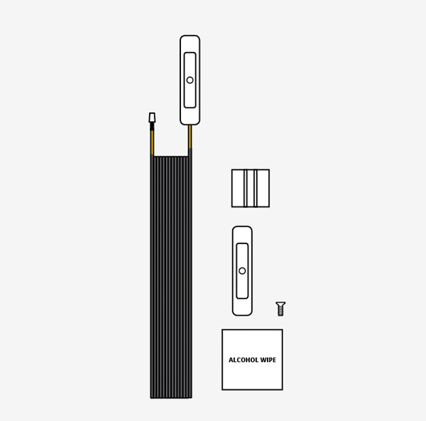 Yellow Sensor Cable w/Activator and Clips
