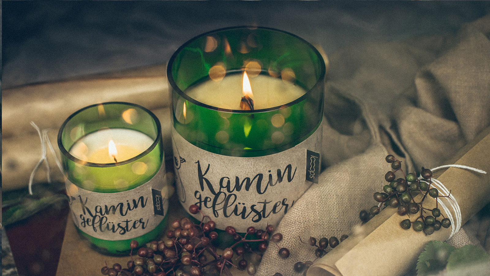 Candle Kerzen.Looops Kerzen Finally Something Real Natural Scented Candles