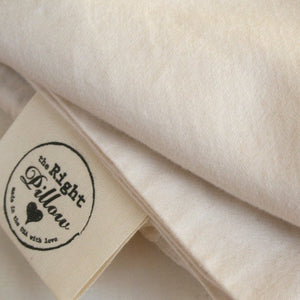 Organic sateen cotton pillowcase for The Right Pillow.