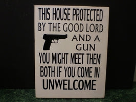 SIGN - This house is protected