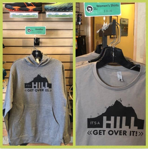 It'a a Hill Get Over It - Cotton Hoodie Unisex Sizes