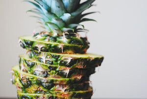 Stack of pineapple slices