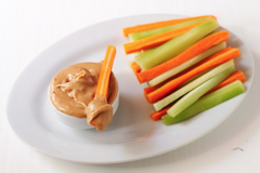 veggie sticks with peanut butter