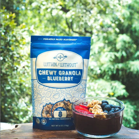 Within/Without's Blueberry Granola modeled as a food gift for Dad