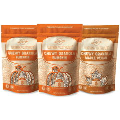 Within/Without Grain Free Pumpkin and Maple Pecan Granola front of pouch
