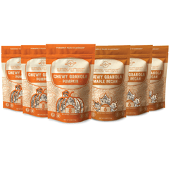 Within/Without Grain Free Pumpkin and Maple Pecan Granola 6 pack front of pouch