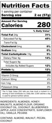 Within/Without Grain Free Blueberry Granola 2oz Nutrition Facts
