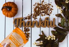 Within/Without Grain Free Pumpkin Granola with Thankful Sign