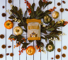 Within/Without Grain Free Maple Pecan Granola Fall Holiday Background
