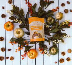 Within/Without Grain Free Pumpkin Granola on Fall Background
