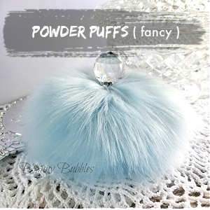 POWDER PUFFS - fancy