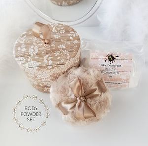 body powder puff gift set