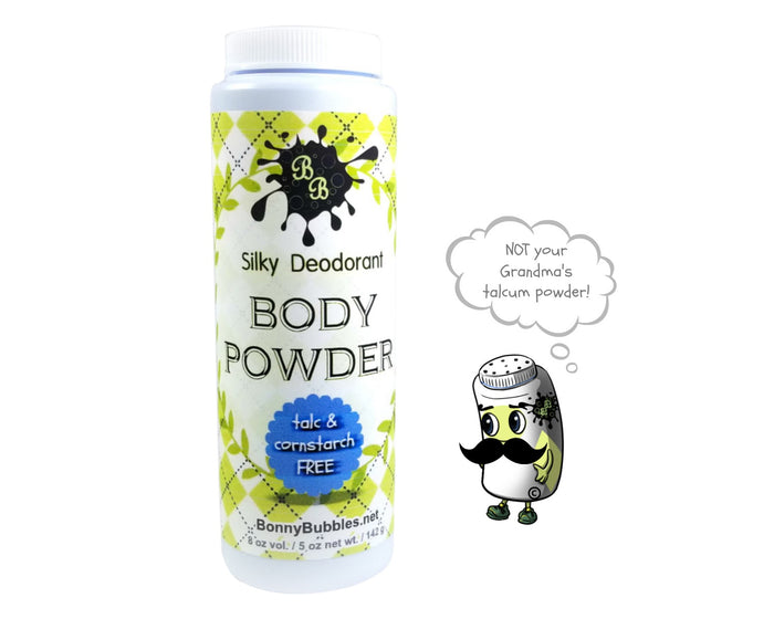 BARBERSHOP 201 Body Powder - deodorant poudre - no talc or cornstarch - 8 oz by Bonny bubbles