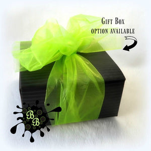 powder puff gift box by Bonny Bubbles