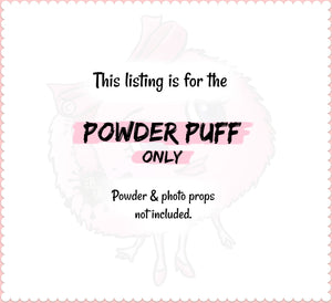 Body Powder Puff - Pink and Gold - vintage style powder duster - by Bonny Bubbles